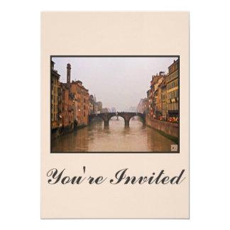 愛引用文のフィレンツェ橋 カード
