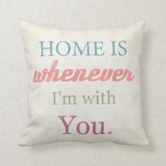 愛引用文の芸術のTypohraphyのプリントの枕 クッション
