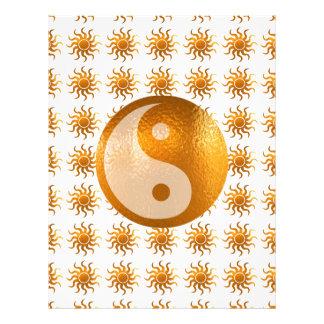 愛心配: 日曜日エネルギーn陰陽のバランス レターヘッド