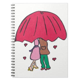 愛情のあるカップルのメモ帳 ノートブック