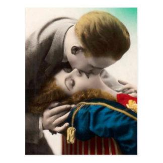 愛情のあるカップルのヴィンテージの郵便はがき ポストカード