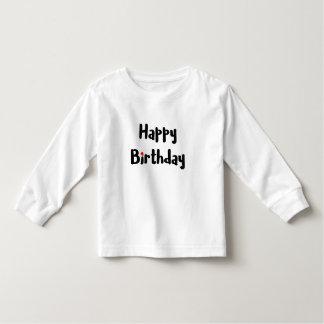 愛情のあるハッピーバースデーの文字の赤いハートのお祝い トドラーTシャツ