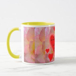 愛情のあるハートのマグ マグカップ