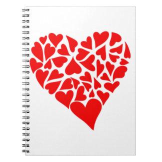 愛情のあるハート ノートブック