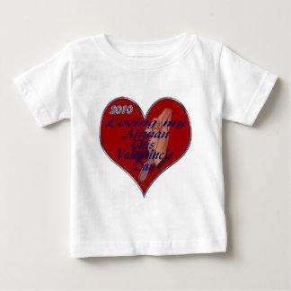 愛情のあるパイロットVAL日のラベル ベビーTシャツ