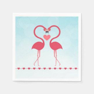 愛情のあるピンクのフラミンゴ スタンダードカクテルナプキン