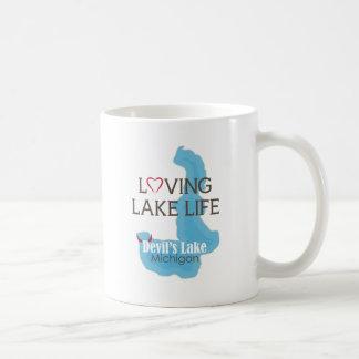 愛情のある湖の生命、devil's湖、ミシガン州 コーヒーマグカップ
