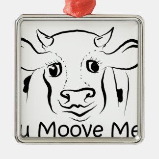 愛情のある牛 メタルオーナメント