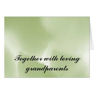 愛情のある祖父母とともに カード