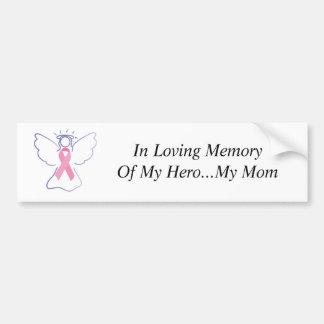 愛情のある記憶のお母さんの乳癌の天使、の… バンパーステッカー