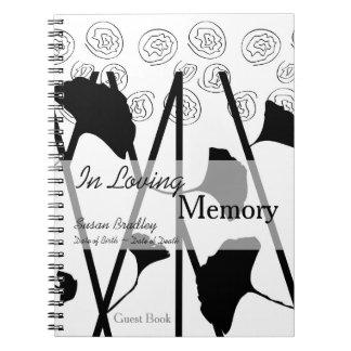 愛情のある記憶イチョウ2の記念物の来客名簿 ノートブック