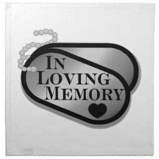 愛情のある記憶ドッグタッグ ナプキンクロス
