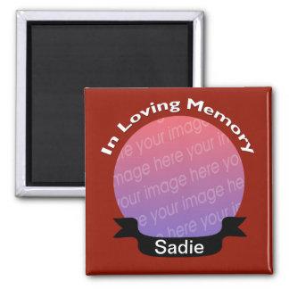 愛情のある記憶正方形の写真の磁石の赤 マグネット