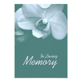 愛情のある記憶蘭5の葬式の発表 12.7 X 17.8 インビテーションカード