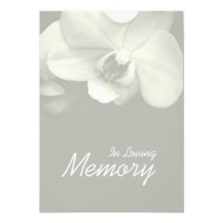 愛情のある記憶蘭9の葬式の発表 12.7 X 17.8 インビテーションカード