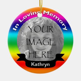 愛情のある記憶虹の写真のオーナメント セラミックオーナメント