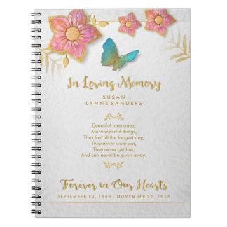 愛情のある記憶蝶記念の来客名簿 ノートブック