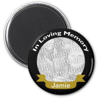 愛情のある記憶黒の金ゴールドの写真の磁石 マグネット