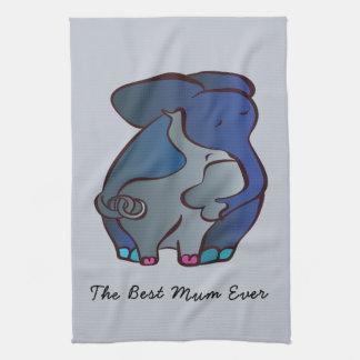 愛情のある象4 CraftiesPot著最も最高のなミイラ キッチンタオル
