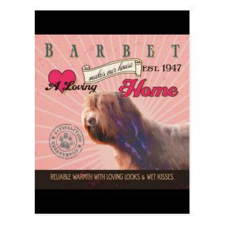 愛情のあるBarbetは私達の家の家を作ります ポストカード