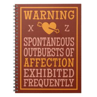 愛情のカスタムなモノグラムのノートの爆発 ノートブック