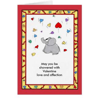 愛情のシャワー-バレンタイン カード