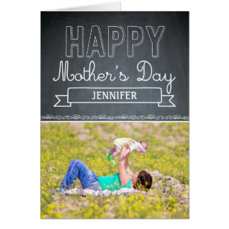 愛情をこめて描かれた母の日の写真カード カード