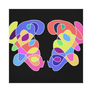 「愛情」の抽象美術 キャンバスプリント