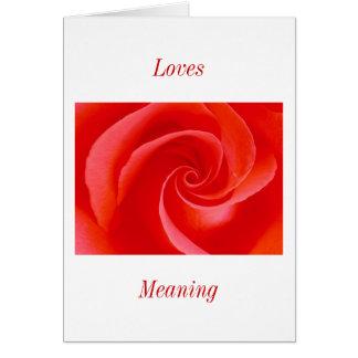 愛意味 カード