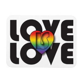 """""""愛愛""""は虹のハートの磁石です マグネット"""