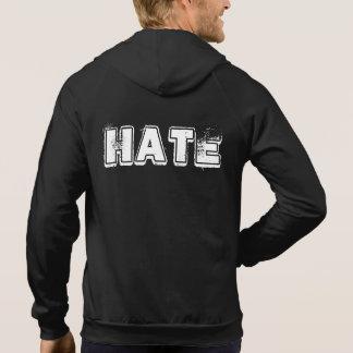 愛憎の袖なしのジッパーのフード付きスウェットシャツ(黒) パーカ