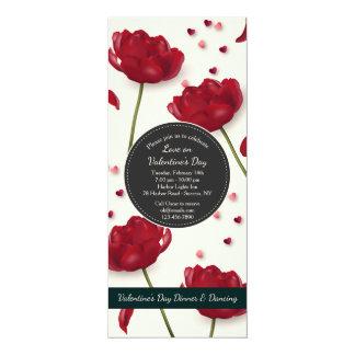 愛招待状のクリームの背景の花 カード