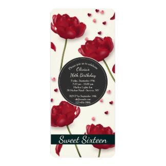 愛招待状の花 カード
