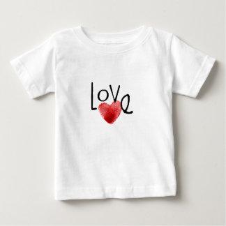愛指紋のハート ベビーTシャツ