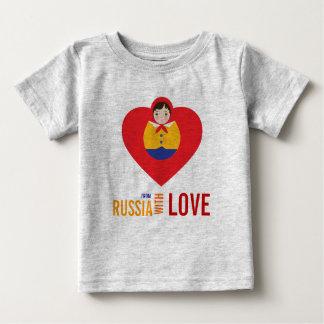愛採用のシャワーのワイシャツが付いているロシアから ベビーTシャツ