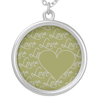 愛文字のネックレスは、カスタマイズ シルバープレートネックレス