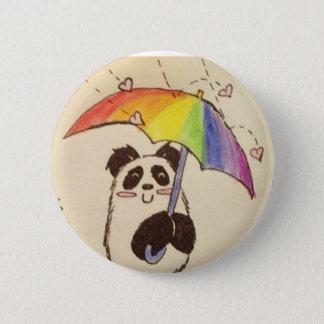 愛日本製アニメのパンダのシャツのボタンを雨が降っています 5.7CM 丸型バッジ