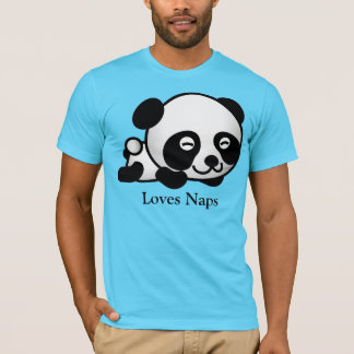 愛昼寝のかわいい睡眠のパンダのTシャツ Tシャツ