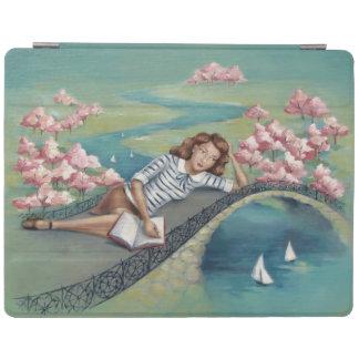 愛書家の女の子のiPadの頭が切れるなカバー iPad カバー