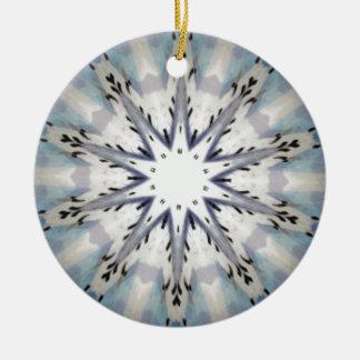 愛曼荼羅の万華鏡のように千変万化するパターンの感情的な星 セラミックオーナメント
