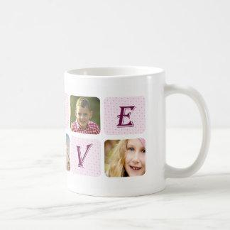 愛最もクールなお母さんのカスタムな写真のコラージュ コーヒーマグカップ