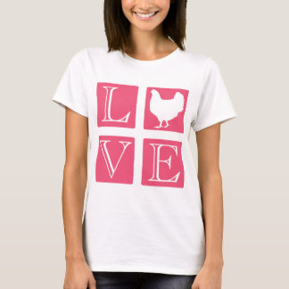 愛正方形: 鶏 Tシャツ