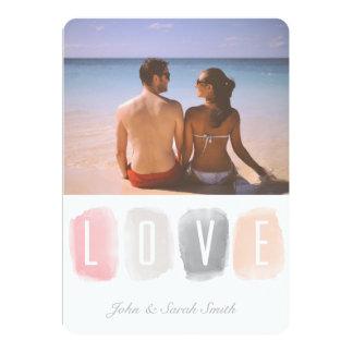 愛水彩画のパレット の写真のバレンタイン 12.7 X 17.8 インビテーションカード