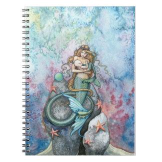 愛永遠の人魚およびベビーのノート ノートブック