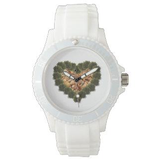 愛海藻及び貝のハートの腕時計のデザイン 腕時計