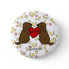 愛漫画とのパーソナライズされたな2 Choco Labradors 缶バッジピンバック