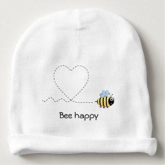 愛漫画のベビーの帽子の幸せで前向きな蜂 ベビービーニー
