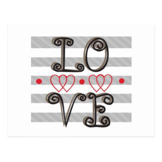 愛無限は愛無限を時間を計ります ポストカード