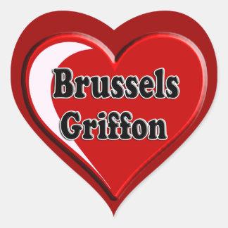 愛犬家のためのハートのブリュッセルGriffon ハートシール