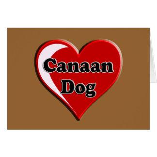 愛犬家のためのハートのCanaan グリーティングカード